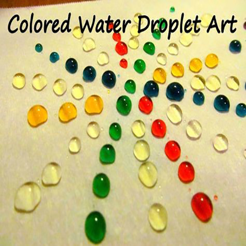 A photo of water droplet art