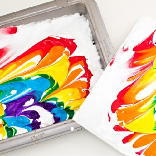 Rainbow shaving cream