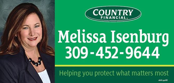 Green and black logo with the words Melissa Isenburg, Country Financial