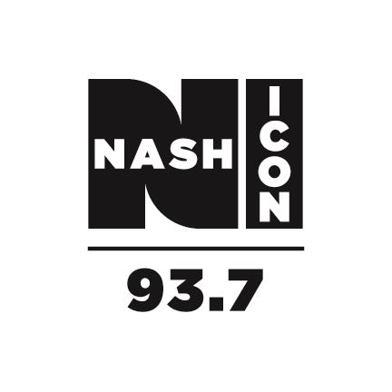 Black and white logo with the words Nash ICON 93.7.