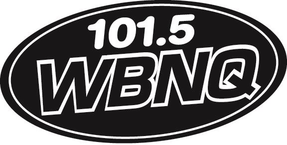 Black and white logo with the words WBNQ.