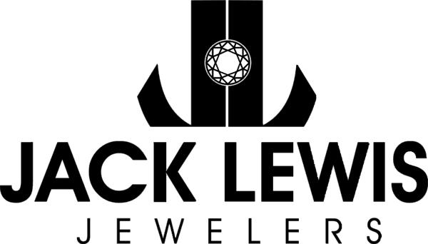 Black and white logo with the words Jack Lewis Jewelers
