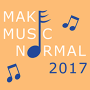 Colorful logo with the words Make Music Normal.
