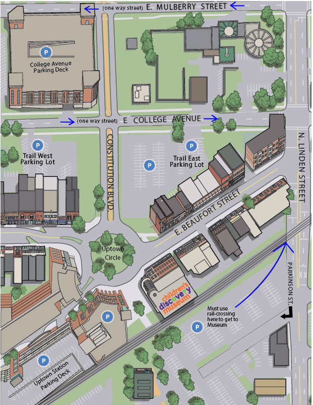 Uptown Map- Parking Map