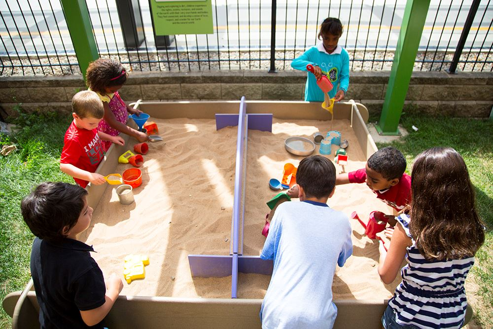 Children excavating